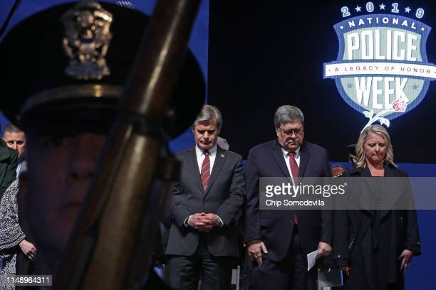 Federal Bureau of Investigation Director Christopher Wray, U.S. Attorney General William Barr and National Law Enforcement Officers Memorial Fund...