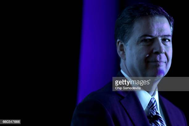 Federal Bureau of Investigation Director James Comey delivers the keynote remarks at the Intelligence and National Security Alliance Leadership...
