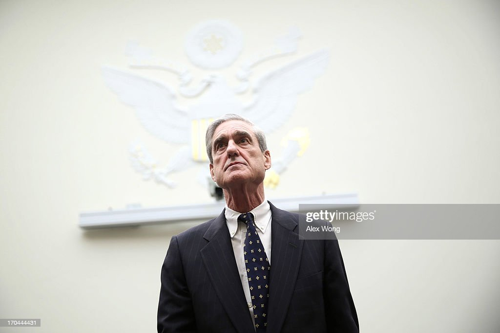 Federal Bureau of Investigation Director Robert Mueller arrives at a hearing before the House Judiciary Committee June 13, 2013 on Capitol Hill in Washington, DC. Mueller testified on the oversight of the FBI.