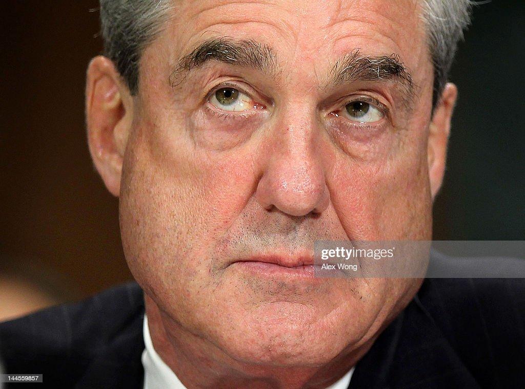 FBI Director Robert Mueller Testifies To Senate Committee On Oversight Of FBI : News Photo