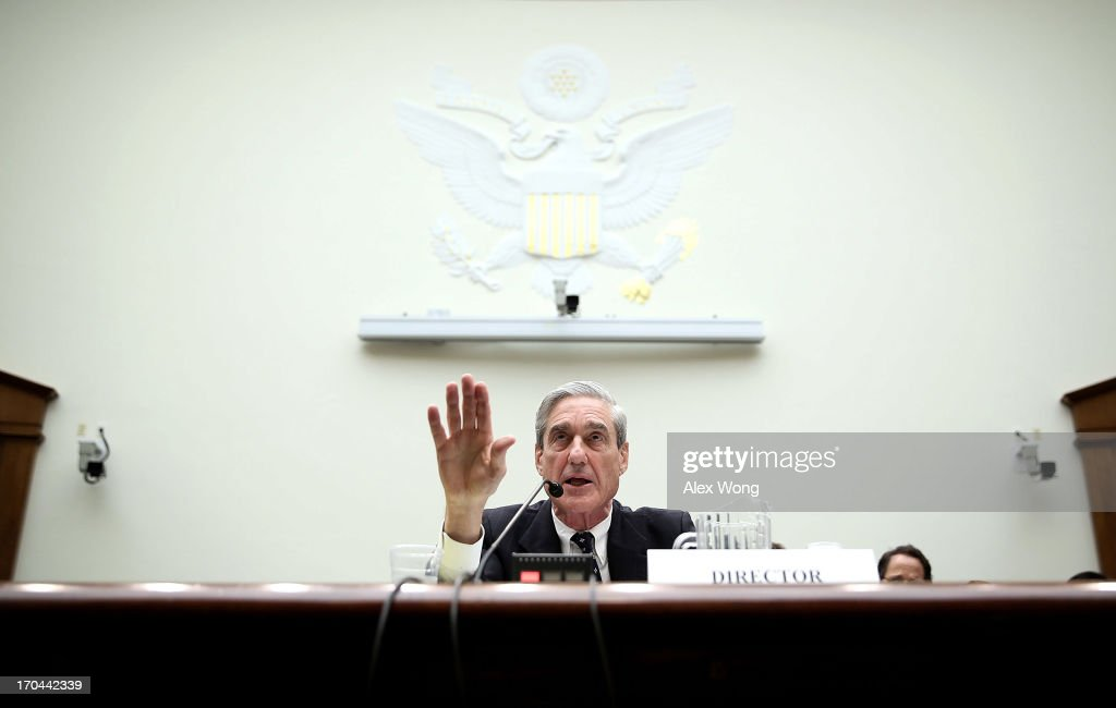 Federal Bureau of Investigation Director Robert Mueller testifies during a hearing before the House Judiciary Committee June 13, 2013 on Capitol Hill in Washington, DC. Mueller testified on the oversight of the FBI.
