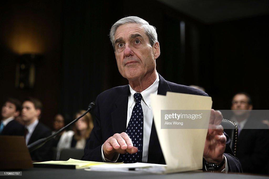 Mueller Testifies At Senate FBI Oversight Hearing : News Photo