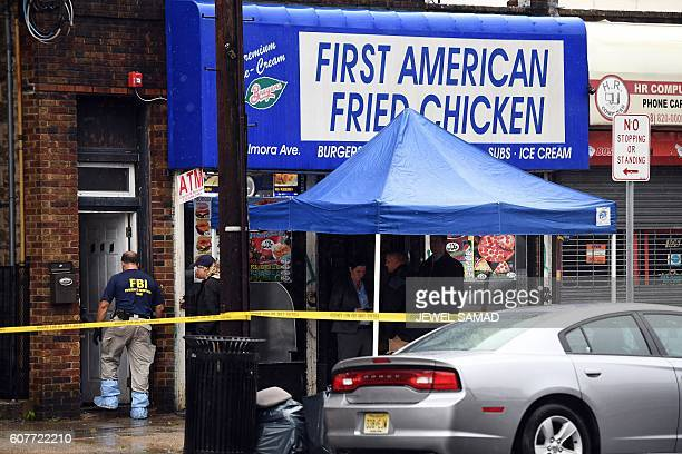 Federal Bureau of Investigation investigators ivestigate inside the family restaurant and adjoined apartment of Ahmad Khan Rahami in Elizabeth New...
