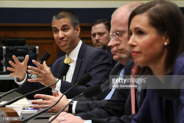 Federal Communication Commission Chairman Ajit Pai and commissioners Michael O'Rielly, Brendan Carr and Jessica Rosenworcel testify before the House...