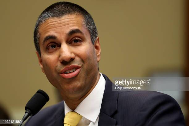 Federal Communication Commission Chairman Ajit Pai testifies before the House Energy and Commerce Committee's Communications and Technology...