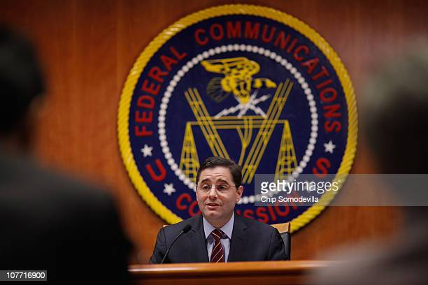 Federal Communications Commission Chairman Julius Genachowski delviers remarks before the commission voted to adopted controversial Net neutrality...