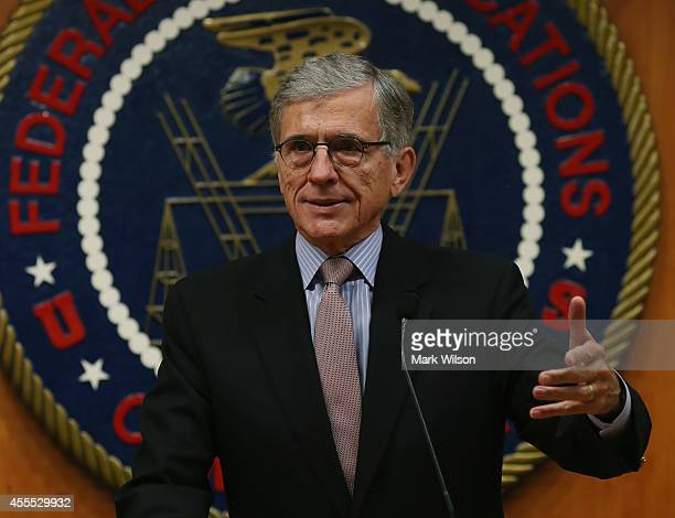Federal Communications Commission Chairman Tom Wheeler delivers opening remarks at the start of a Open Internet Roundtable discussion September 16...