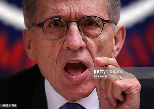 Federal Communications Commission Chairman Tom Wheeler listens during an open meeting to receive public comment on proposed open Internet notice of...