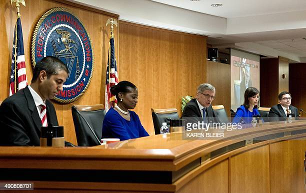 Federal Communications Commission Chairman Tom Wheeler speaks before calling for a vote during a meeting of the commissioners on May 15 2014 at the...