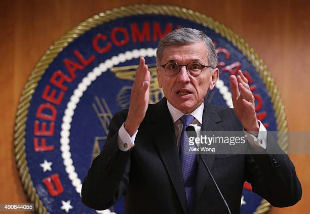 Federal Communications Commission Chairman Tom Wheeler speaks during a news conference after an open meeting to receive public comment on proposed...