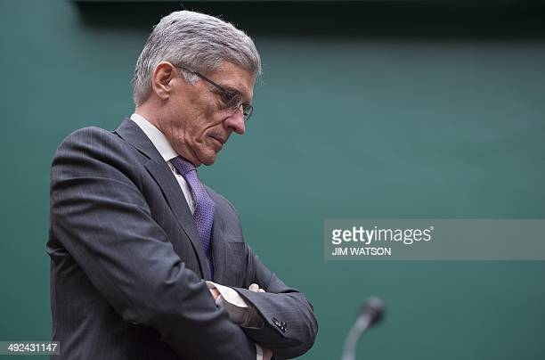 Federal Communications Commission Chairman Tom Wheeler testifies before the Communications and Technology Subcommittee on Capitol Hill in Washington...