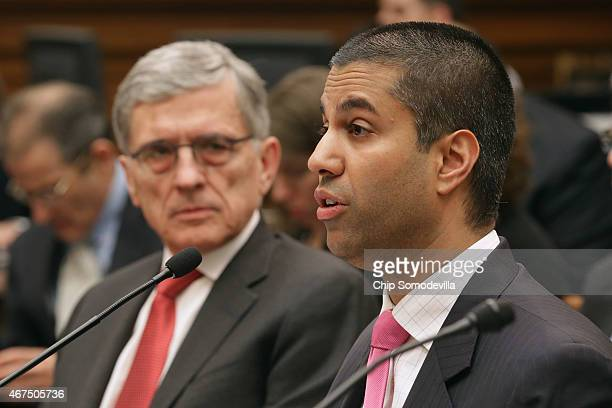 Federal Communications Commission Commissioner Ajit Pai and FCC Chairman Tom Wheeler testify before the House Judiciary Committee about Internet...