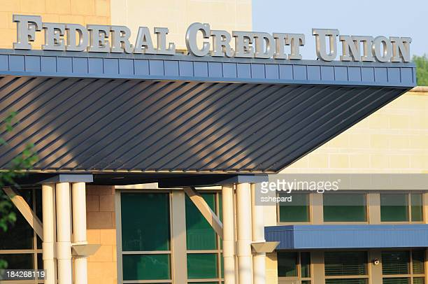 federal credit union sign - credit union stock photos and pictures