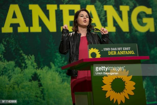 Federal delegates conference of Alliance 90 / The Greens in Hanover Annalena Baerbock Federal party Chairwoman of Alliance 90/The Greens during a...