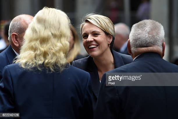 Federal Deputy Leader of the Opposition Tanya Plibersek arrives at the Remembrance Day service at the Cenotaph on November 11 2016 in Sydney...