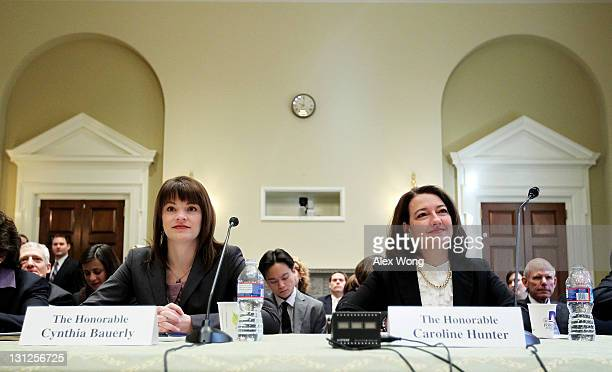 Federal Election Commission Chairman Cynthia Bauerly and Vice Chairman Caroline Hunter testify during a hearing before the Elections Subcommittee of...