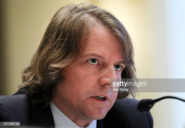 Federal Election Commission Commissioners Donald McGahn II testifies during a hearing before the Elections Subcommittee of House Committee on House...