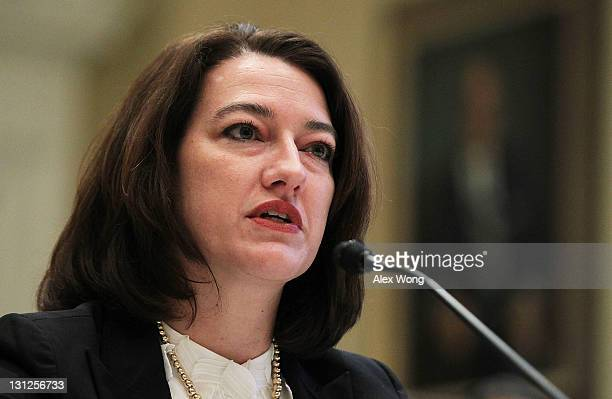 Federal Election Commission Vice Chairman Caroline Hunter testifies during a hearing before the Elections Subcommittee of House Committee on House...