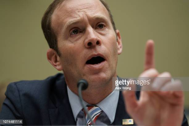 Federal Emergency Management Agency Administrator Brock Long testifies during a hearing before the House Oversight and Government Reform Committee...