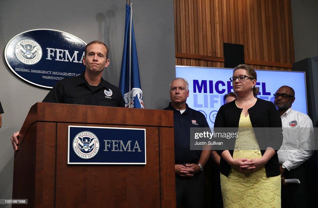 FEMA Officials Hold Briefing On Hurricane Michael At FEMA Headquarters In Washington, D.C. : News Photo