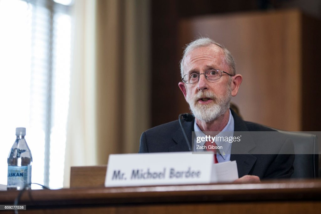 Federal Energy Regulatory Commission's Office of Electric Reliability DirectorMichael Bardee testifies during a Senate Energy Subcommittee hearing discussing cybersecurity threats to the U.S. electrical grid and technology advancements to maximize such threats on Capitol Hill on March 28, 2017 in Washington, D.C.