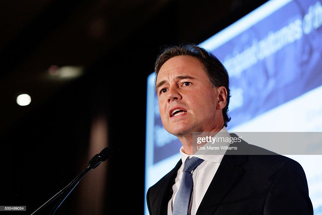 Federal Environment Minister Greg Hunt Delivers Climate Change Address : News Photo