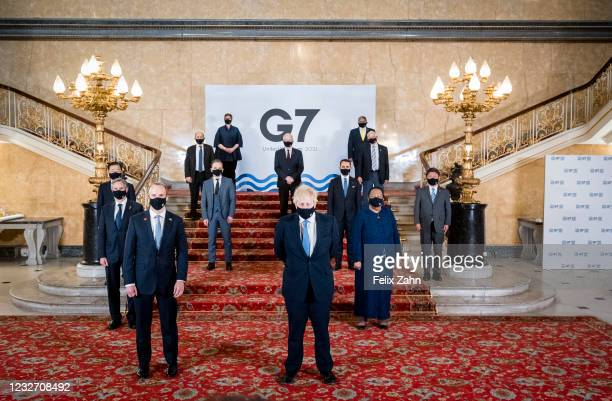 Federal Foreign Minister Heiko Maas, SPD, taken at the family photo at the G7 Foreign Ministers' Meeting at Lancaster House in London, with Boris...