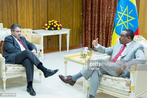 Federal Foreign Minister Sigmar Gabriel SPD meets Hailemariam Desalegn Prime Minister of the Democratic Federal Republic of Ethiopia on May 02 2017...