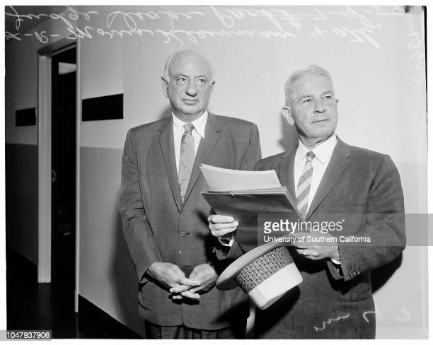 Federal Grand Jury 14 July 1959 Morris Kleinman Attorney Judge Isaac PachtCaption slip reads 'Photographer Mitchell Date Reporter Coney Assignment...