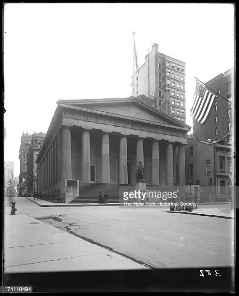 Federal Hall , 28 Wall Street, corner of Nassau Street,New York, New York, late 1900s.