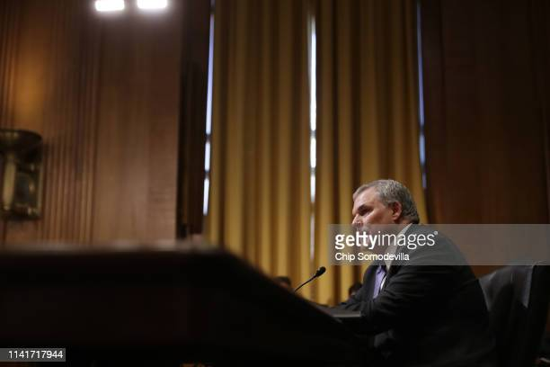 Federal Internal Revenue Service Commissioner Charles Rettig testifies before the Senate Finance Committee April 10, 2019 in Washington, DC. On the...