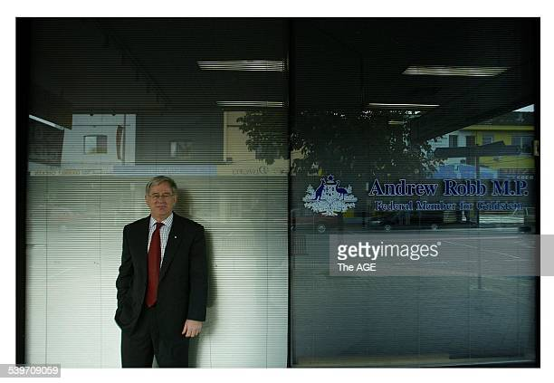 Federal Member for Goldstein Andrew Robb photographed at his office in Bentleigh Melbourne 29 April 2005 The AGE Picture by SIMON O'DWYER