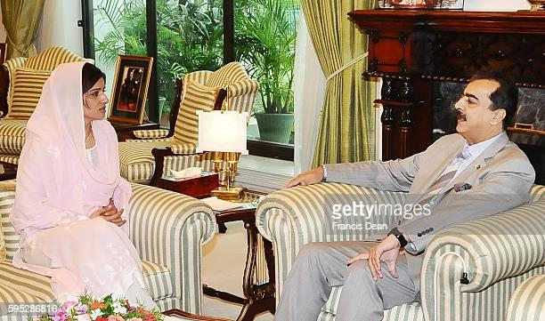 ISLAMABAD / PAKISTAN Federal Minister for Foreign Affairs MS Hina Rabbani Khar called on Prime Minister Syed Yusuf Raza Gilani at PM House Islamabad...