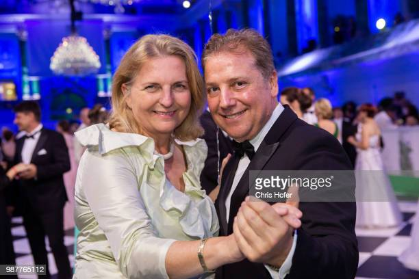 Federal Minister Karin Kneissl Atil Kutoglu during the Fete Imperiale 2018 on June 29 2018 in Vienna Austria