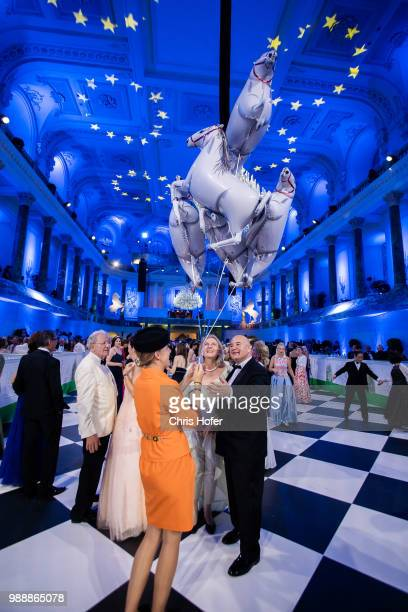 Federal Minister Karin Kneissl with entourage during the Fete Imperiale 2018 on June 29 2018 in Vienna Austria