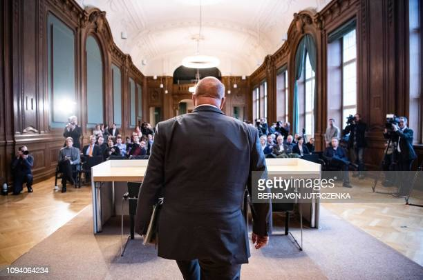 Federal Minister of Economics and Energy Peter Altmaier attends a press conference at the Federal Ministry of Economics in Berlin on February 5 2019...