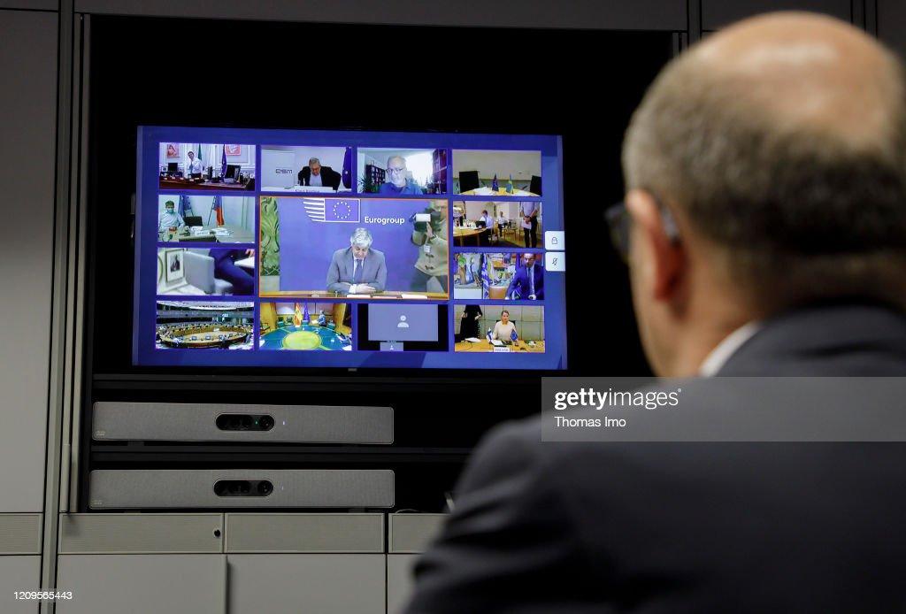 Federal Minister of Finance Olaf Scholz, Euro Group : ニュース写真