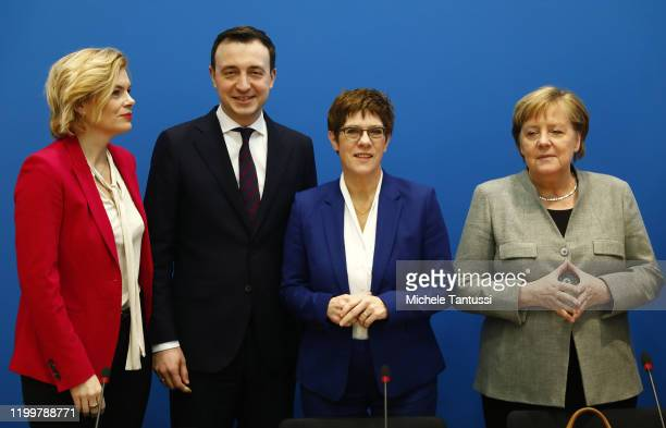 Federal Minister of Food, Agriculture Julia Kloeckner , CDU Secretary General Paul Ziemiak, Federal Minister of Defence, Annegret Kramp-Karrenbauer...