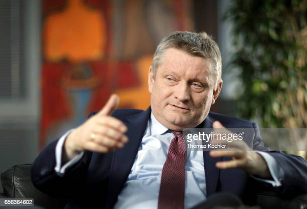 Federal Minister of Health Hermann Groehe CDU gives an interview on March 09 2017 in Berlin Germany
