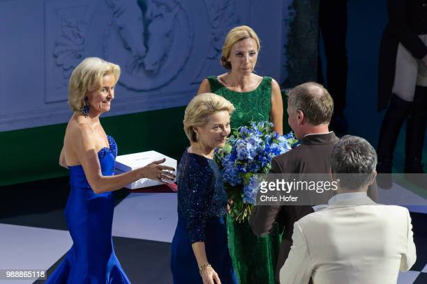 Federal Minister Ursula von der Leyen Federal Minister Juliane BognerStrauss and Elisabeth Guertler at the aware ceremony during Fete Imperiale 2018...