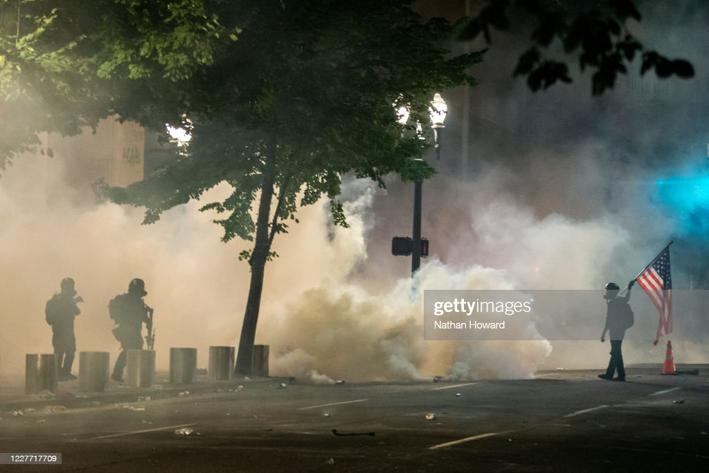 Feds Attempt To Intervene After Weeks Of Violent Protests In Portland : News Photo