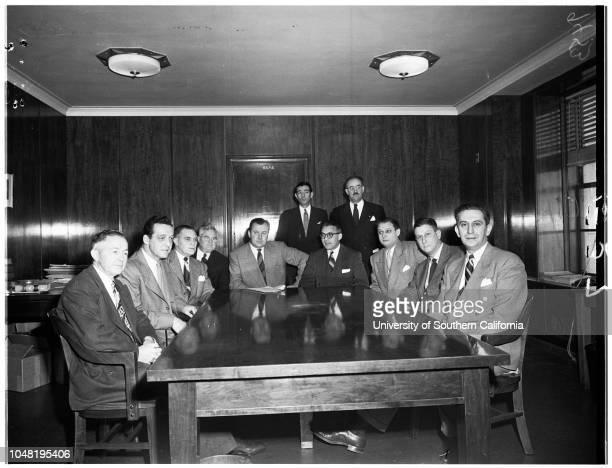Federal Official Crime conference 10 January 1952 L E Fellows John D Dinsmore Charles R Burr John Mullen Walter S Binns Tobias C Klinger C H Carson...