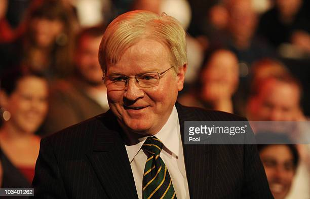 Audience member Paul Hunt with a remarkable likeness to former Prime Minister Kevin Rudd watching SYDNEY AUSTRALIA AUGUST 16 Federal opposition...