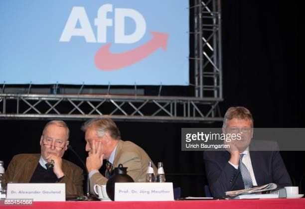 Federal Party Congress of Alternative for Germany Alexander Gauland ArminPaul Hampel and Joerg Meuthen
