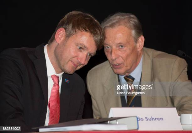 Federal Party Congress of Alternative for Germany Andre Poggenburg and ArminPaul Hampel
