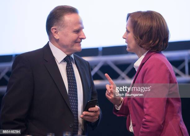 Federal Party Congress of Alternative for Germany Georg Pazderski and Beatrix von Storch