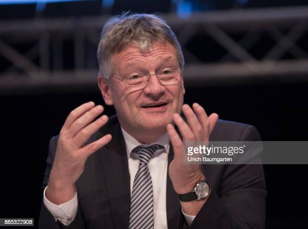 Federal Party Congress of Alternative for Germany Joerg Meuthen federal party chairman of the AfD