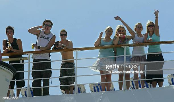 Federal Police and Customs staff made a sweep of young people heading off for a Schoolies cruise onboard PO's Pacific Sun on 29 November 2004 The...