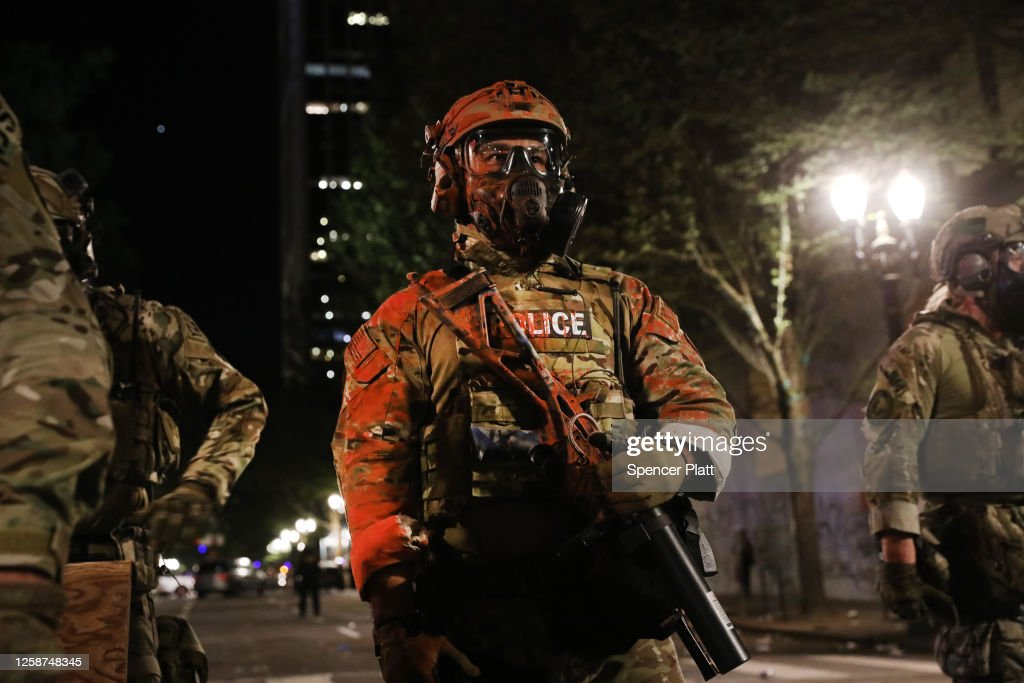 Portland Protests Continue Unabated Despite Federal Law Enforcement Presence : News Photo