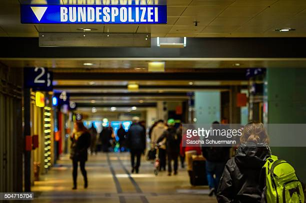 Federal Police reads a sign in the Hauptbahnhof main railway station where on New Year's Eve gangs of what victims described as North African men...
